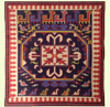 Blue Rug Pillow needlepoint